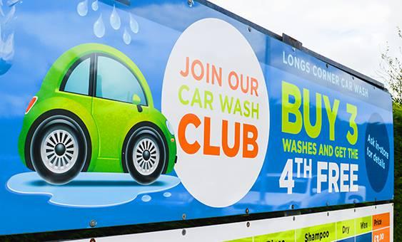 car wash club banner