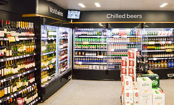 chilled beers and world wines