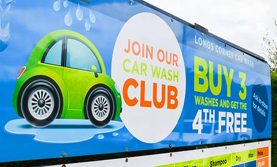 car wash club banner