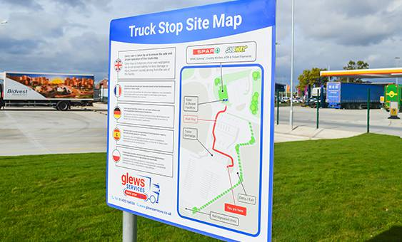 truck stop site map