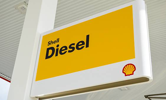 shell diesel sign