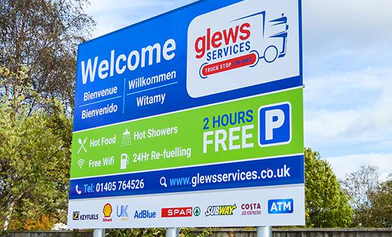 glews services truck stop