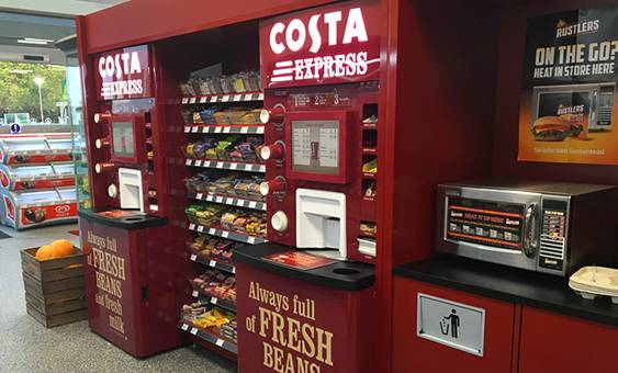 costa express coffee machine